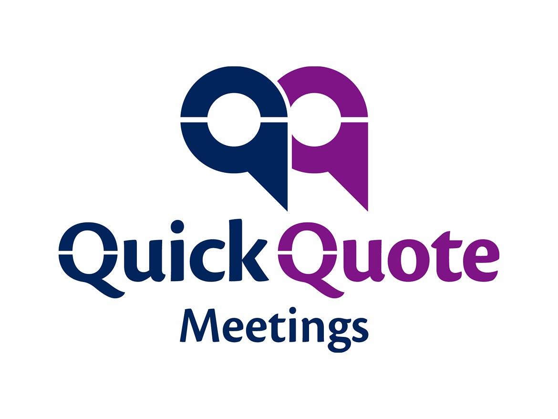 Quick Quote Quick Quote Meetings Logo Design  Clinton Smith Design