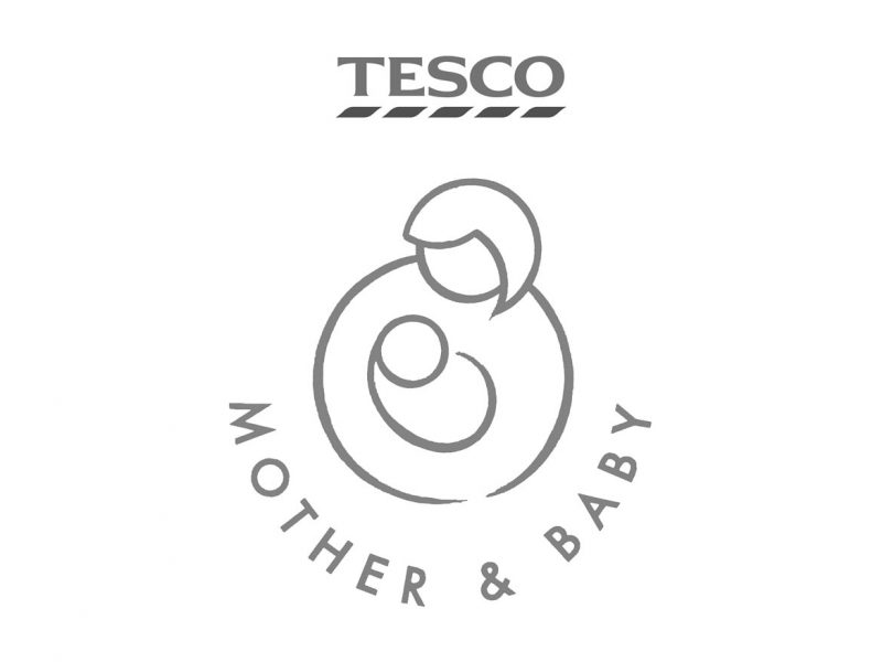 Tesco Mother and Baby Logo Design