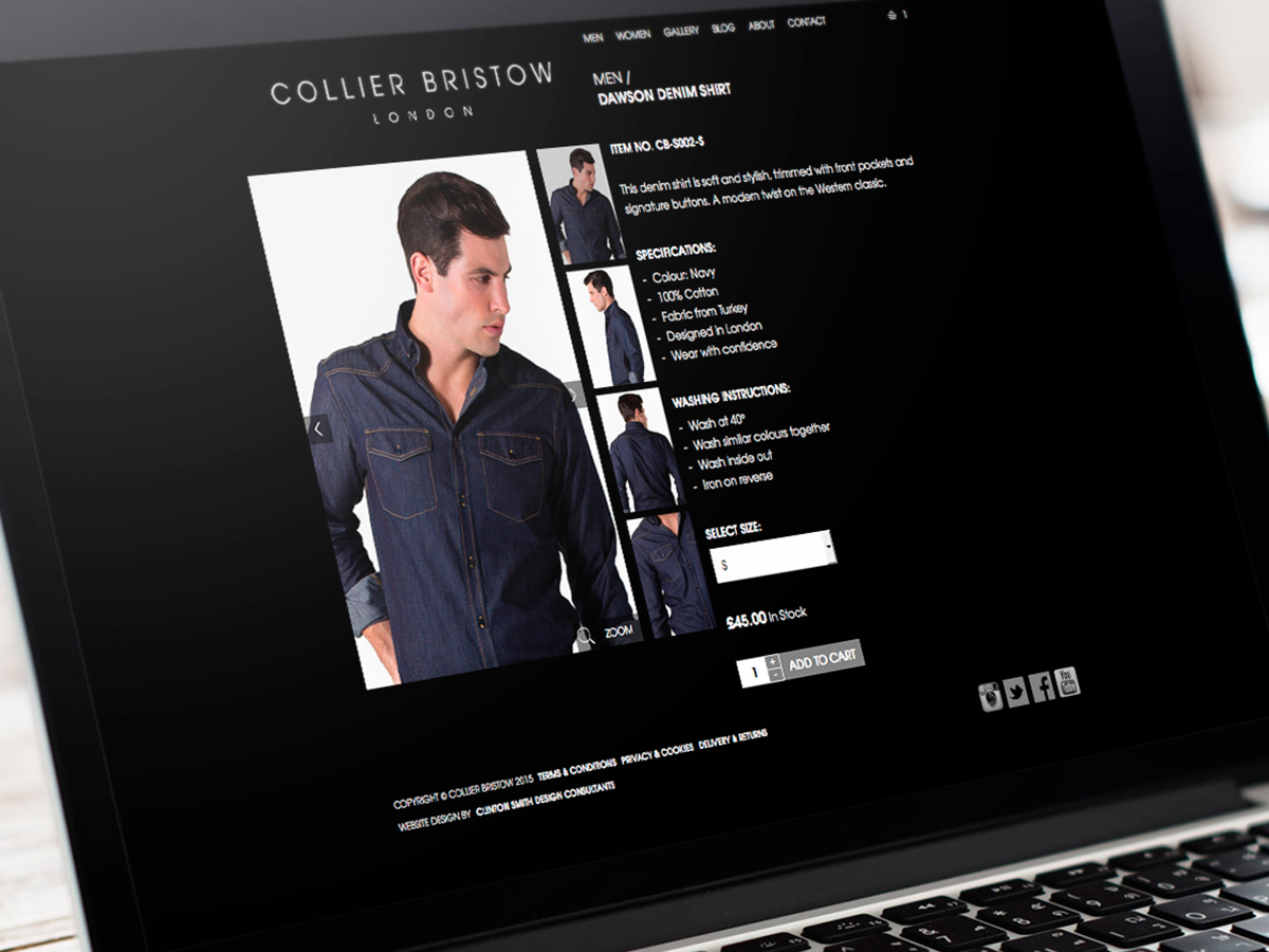 Collier Bristow Website Design