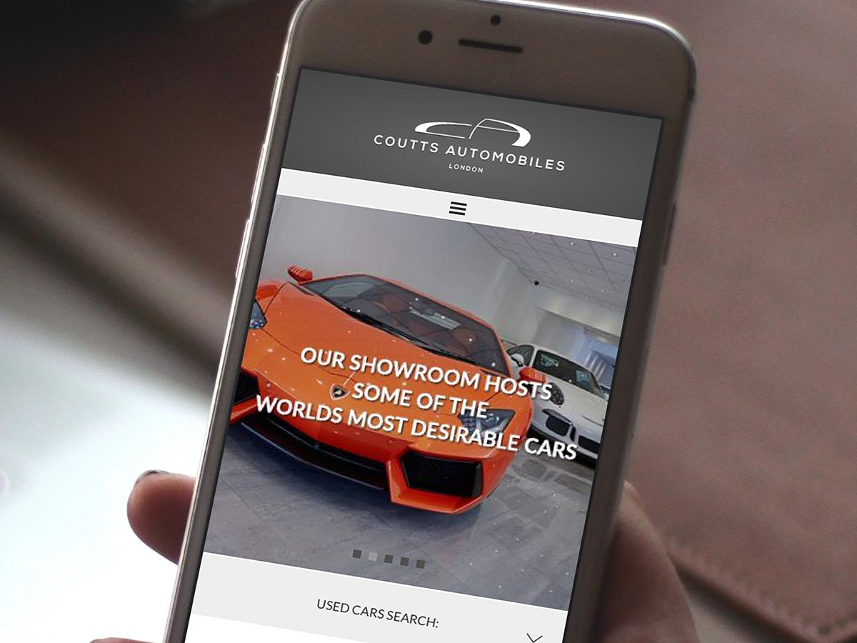 Coutts Automobiles Website Design