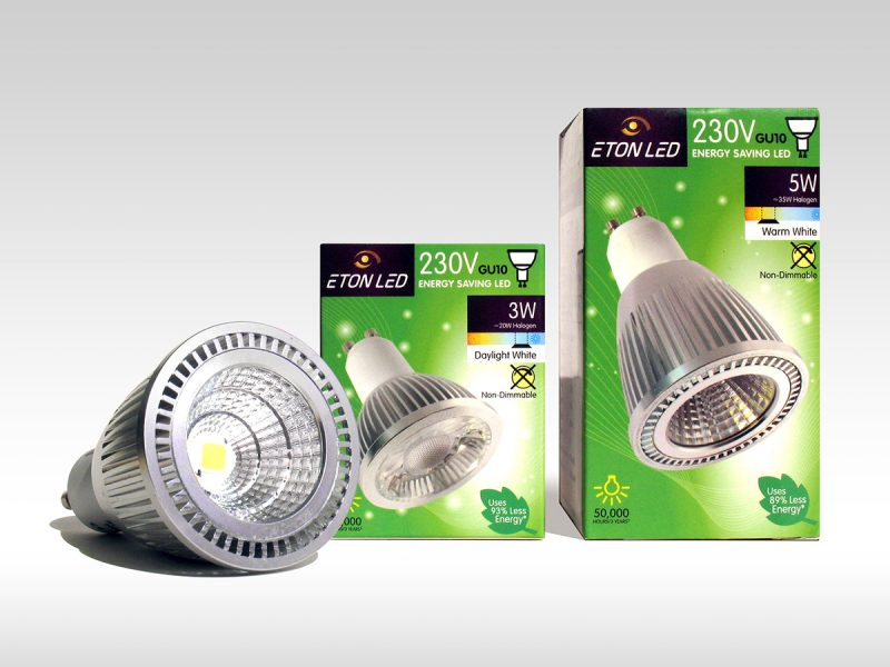 Eton International LED Light Packaging Design
