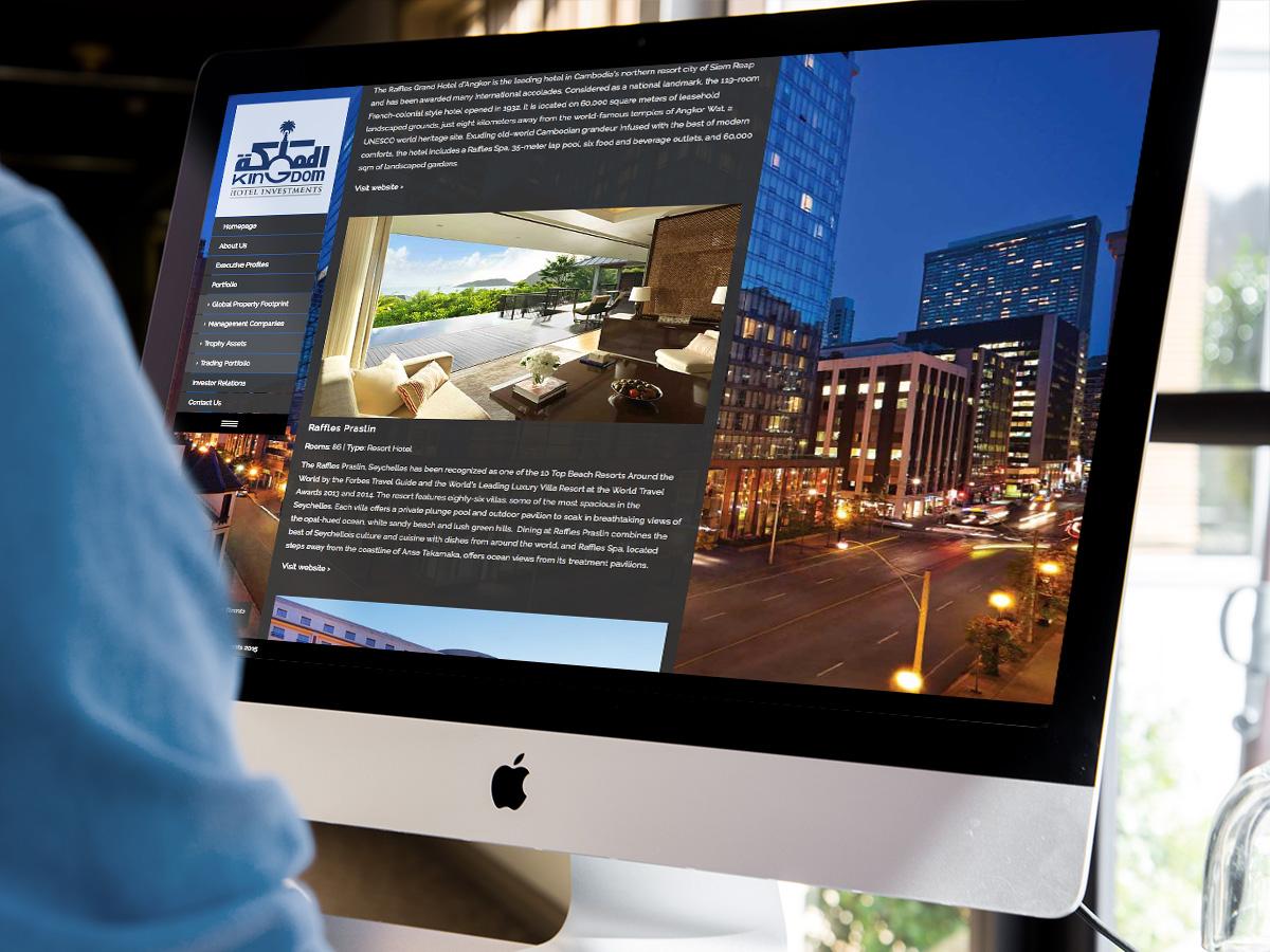 Kingdom Hotel Investments Website Design