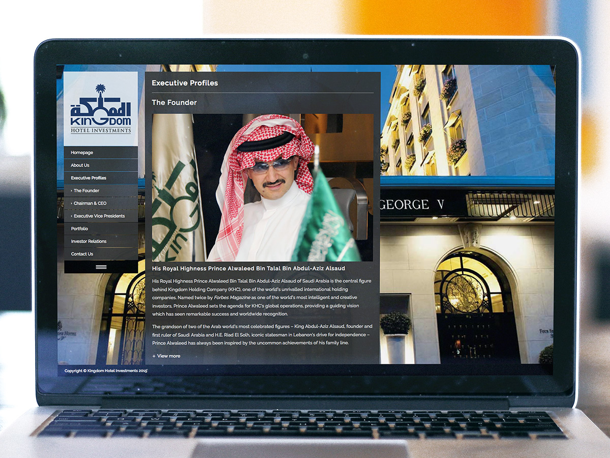 Kingdom Hotel Investments Website Design