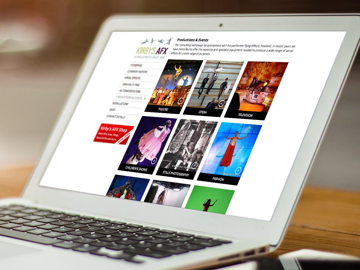 Kirby's AFX Website Design