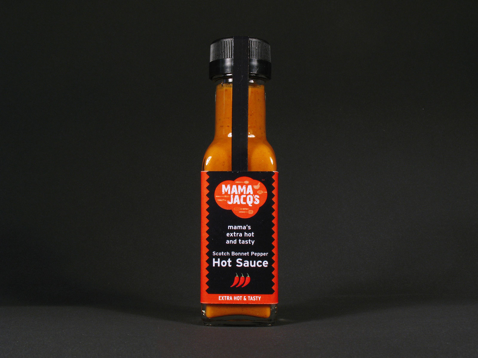 Mama Jacq's Hot Sauce Label Design