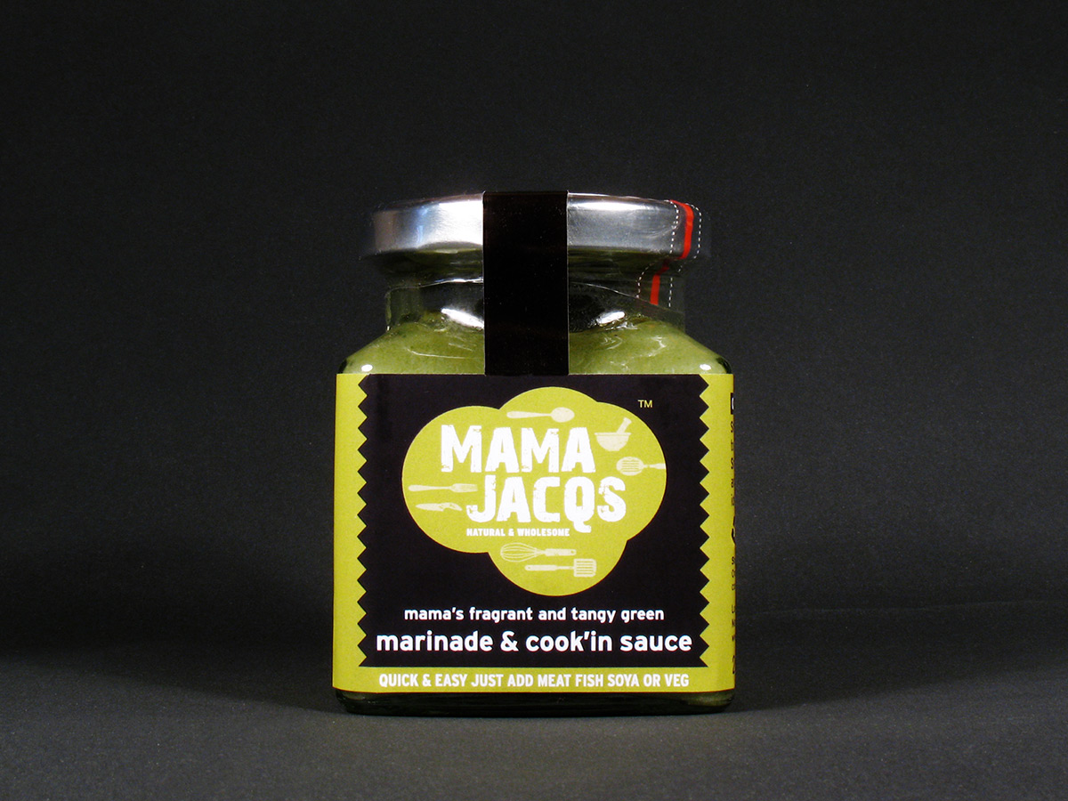 Mama Jacqs Marinade Sauce Label Design