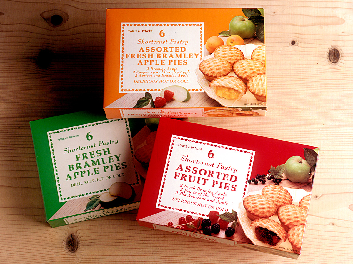 Marks & Spencer Apple Pies Packaging Design