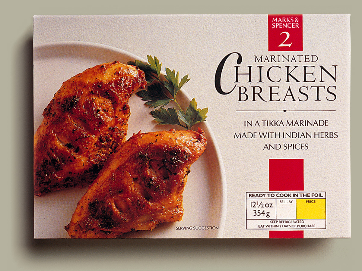 Marks & Spencer Chicken Breasts Packaging Design