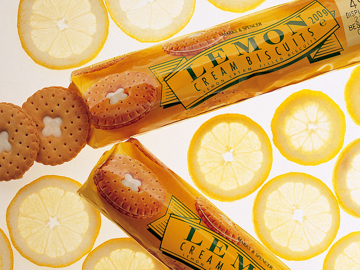 Marks & Spencer Lemon Biscuits Packaging Design
