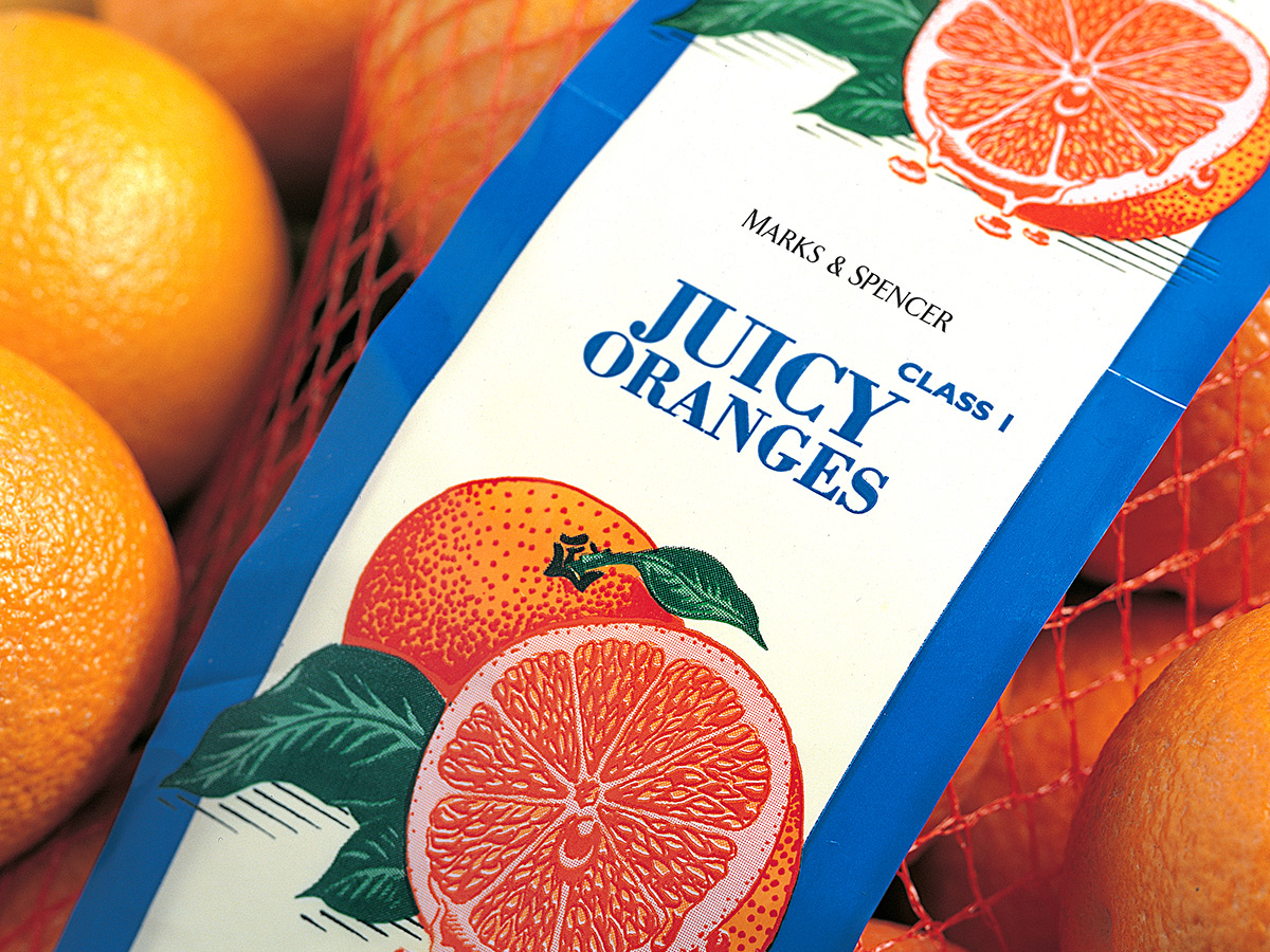 Marks & Spencer Oranges Packaging Design