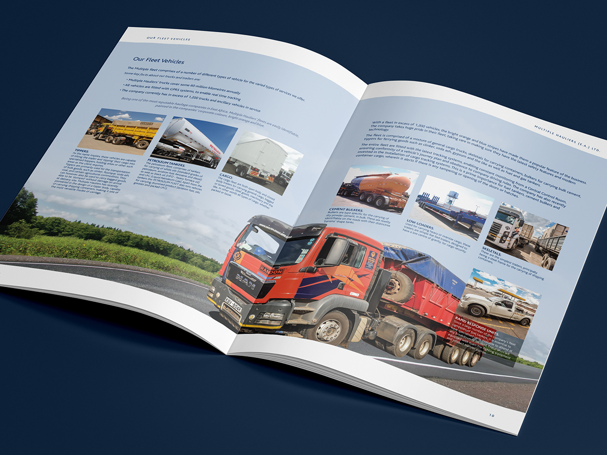 Multiple Hauliers A4 Brochure Spread