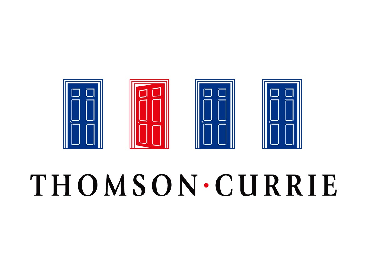 Thomson Currie Estate Agents Logo Design