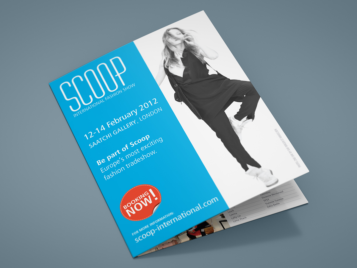 Scoop Fashion Show A5 Folded Leaflet