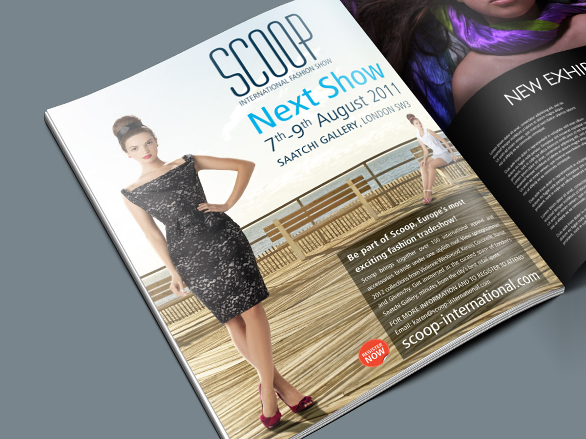 Scoop Fashion Show Magazine Ad