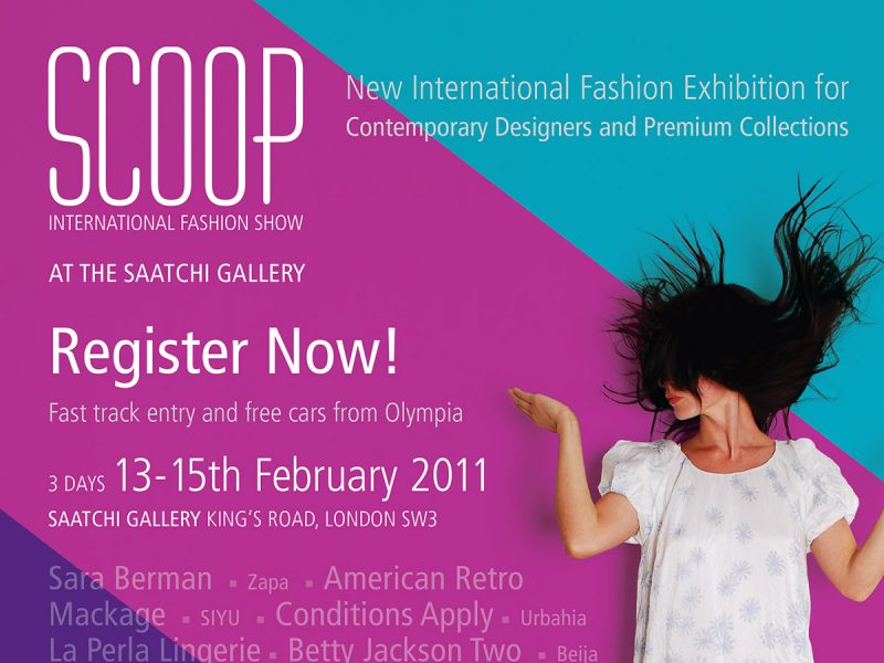Scoop International Fashion Show Advert