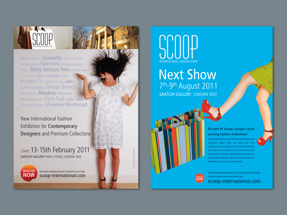 Scoop Fashion Show Advertising