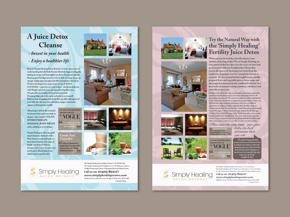 Simply Healing Advertising Design