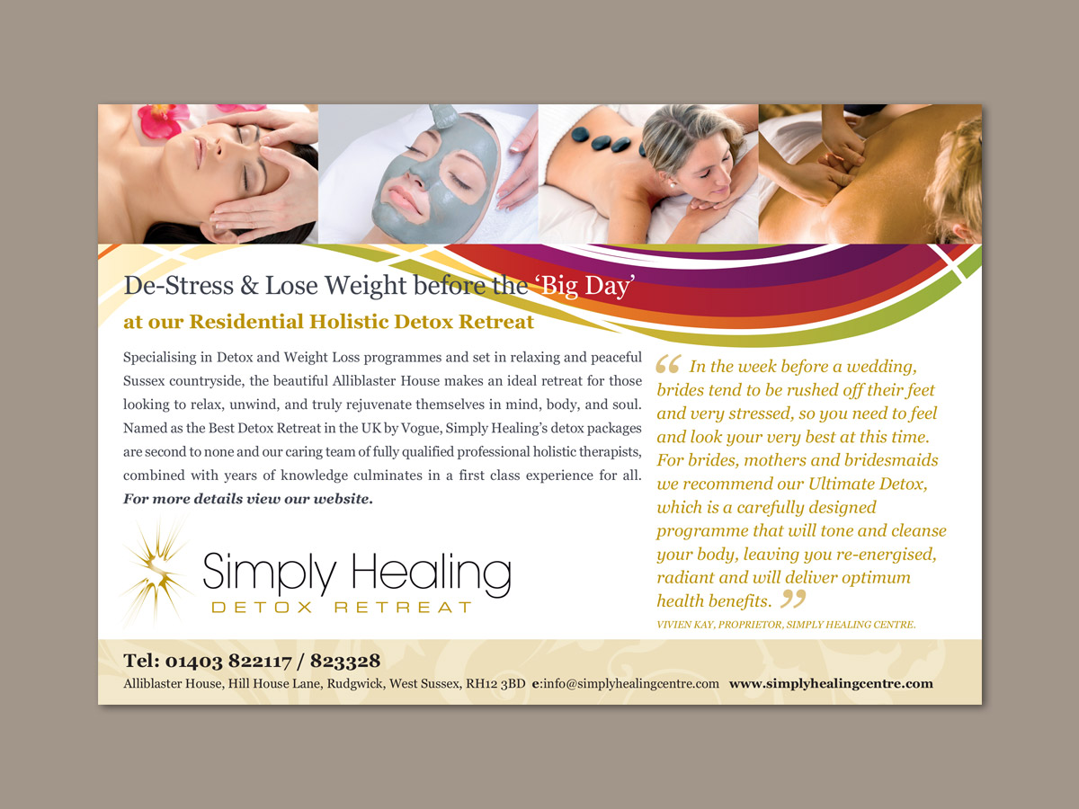 Simply Healing Advertising Design