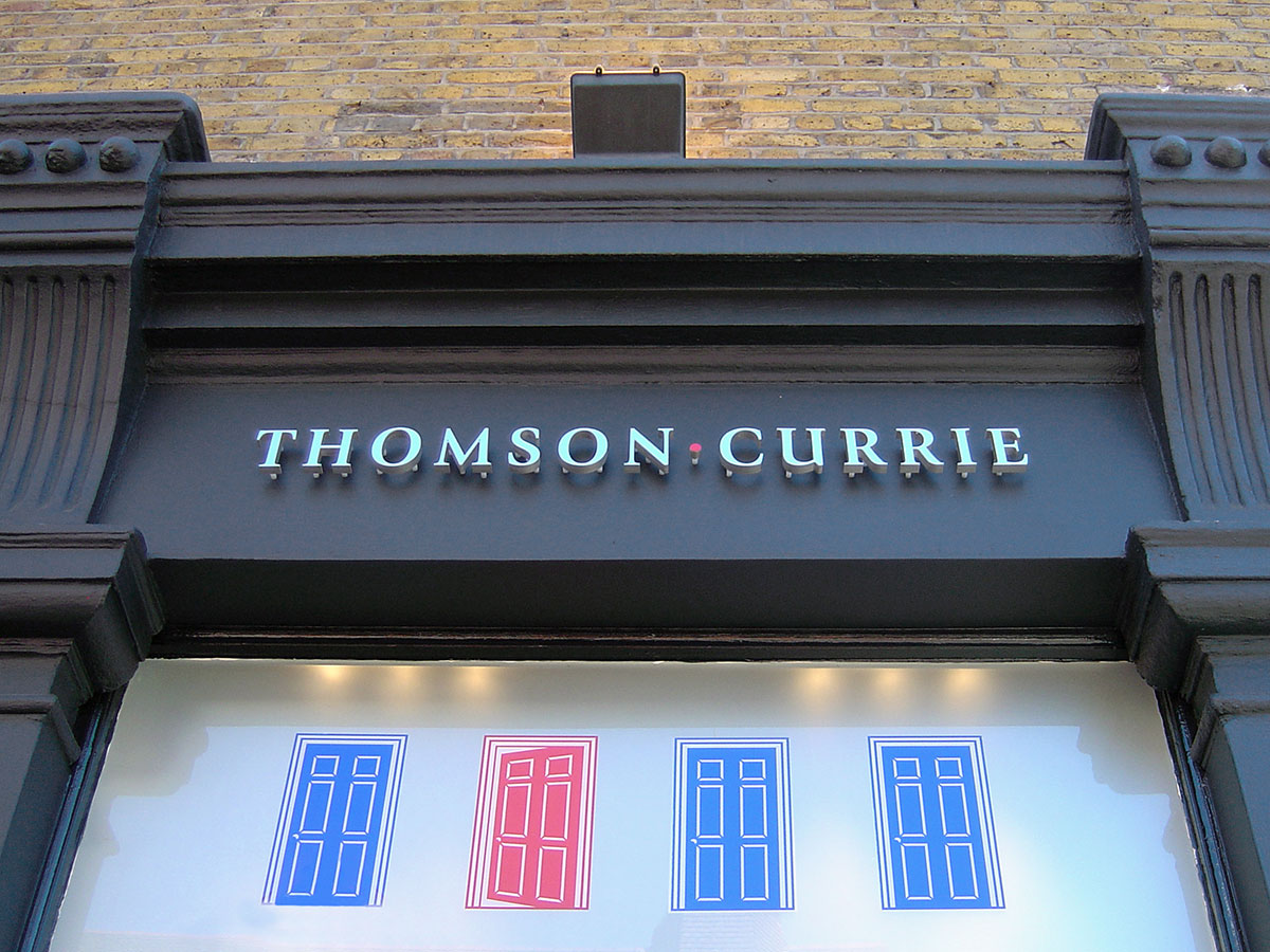 Thomson Currie Retail Signage Design