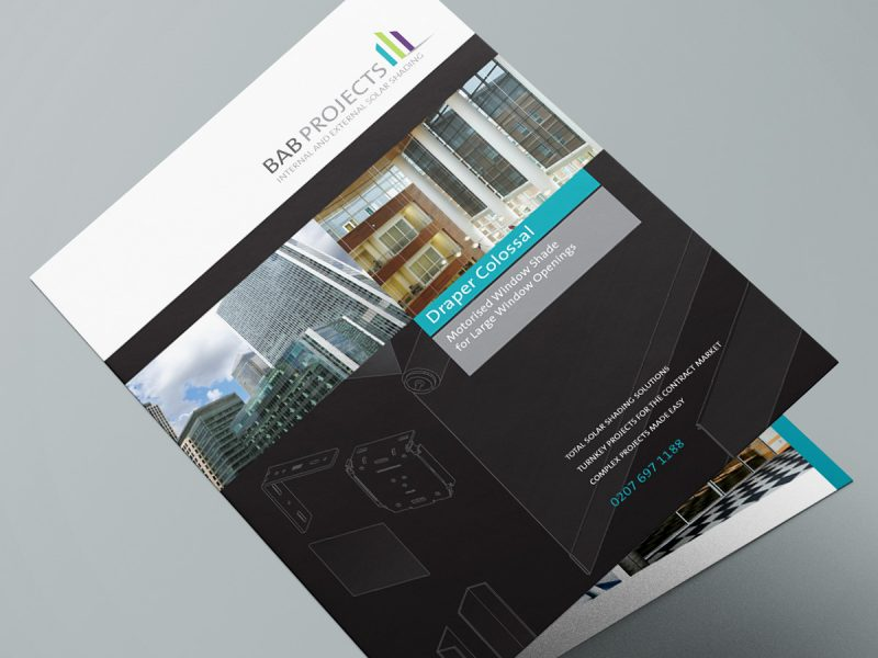 BAB Projects Draper Colossal Brochure Design