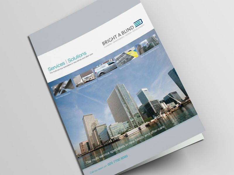Bright A Blind Brochure Design