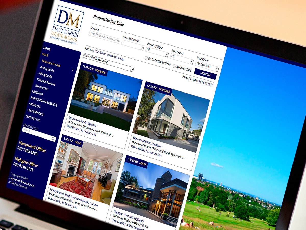 Day Morris Website Design