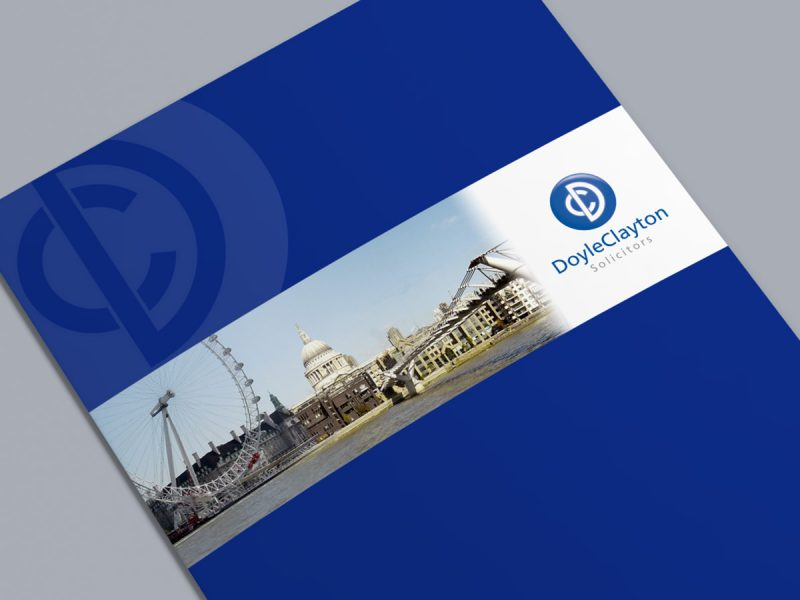 Doyle Clayton Solicitors Brochure Design