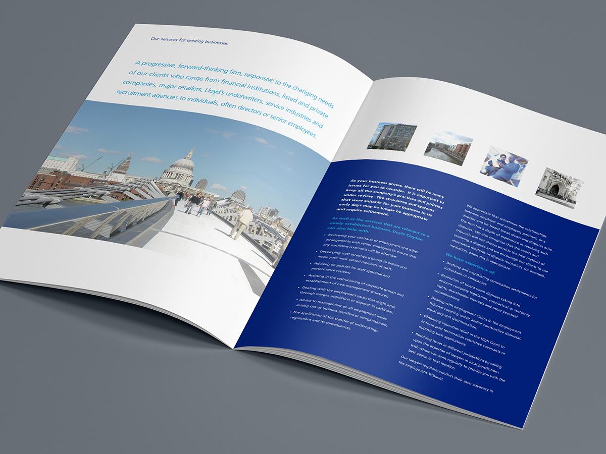doyle clayton solicitors brochure design clinton smith design