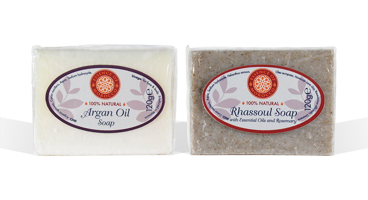 Essence of Morocco Argan Oil Soap Rhassoul Soap