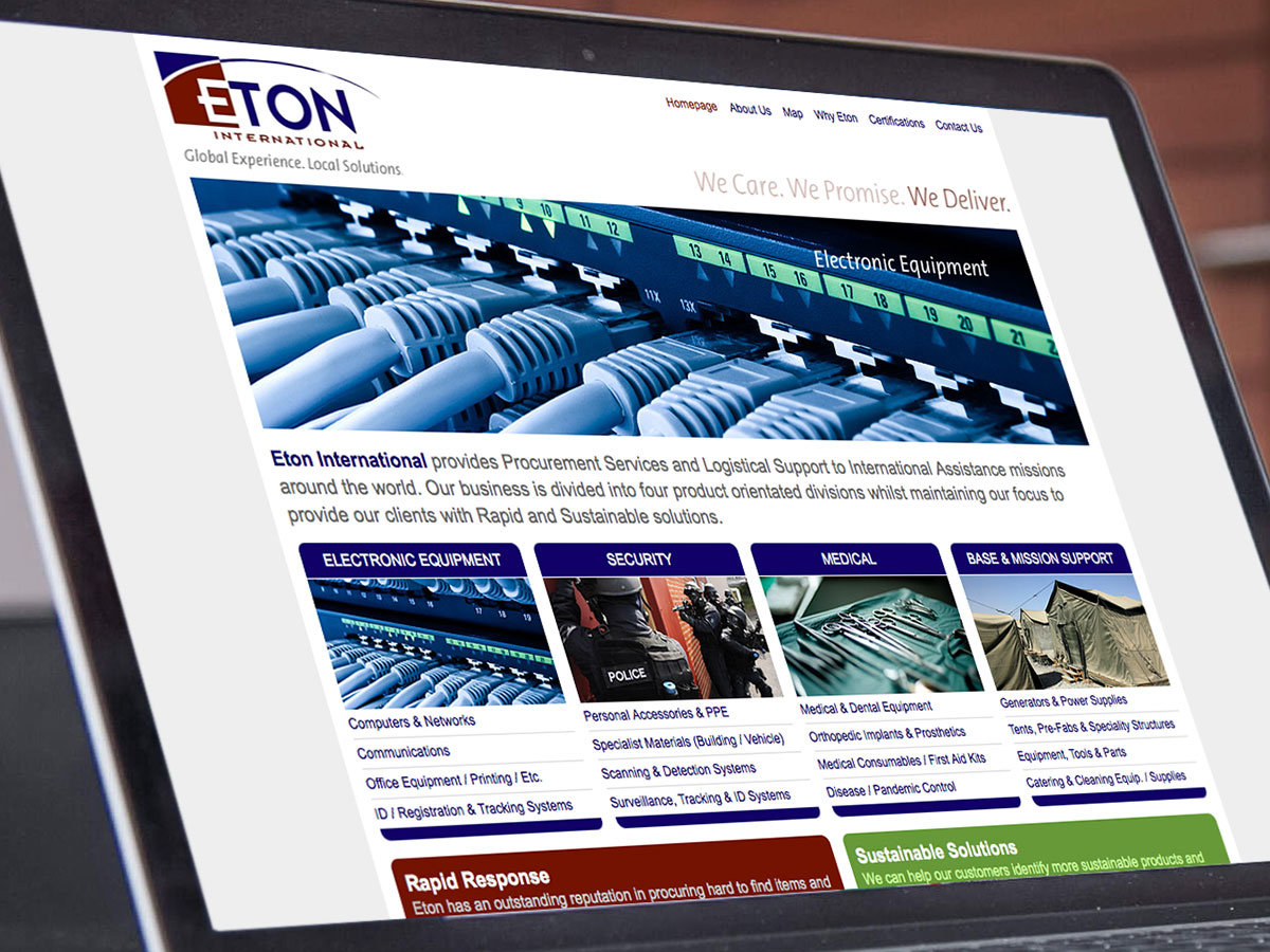 Eton International Website Design