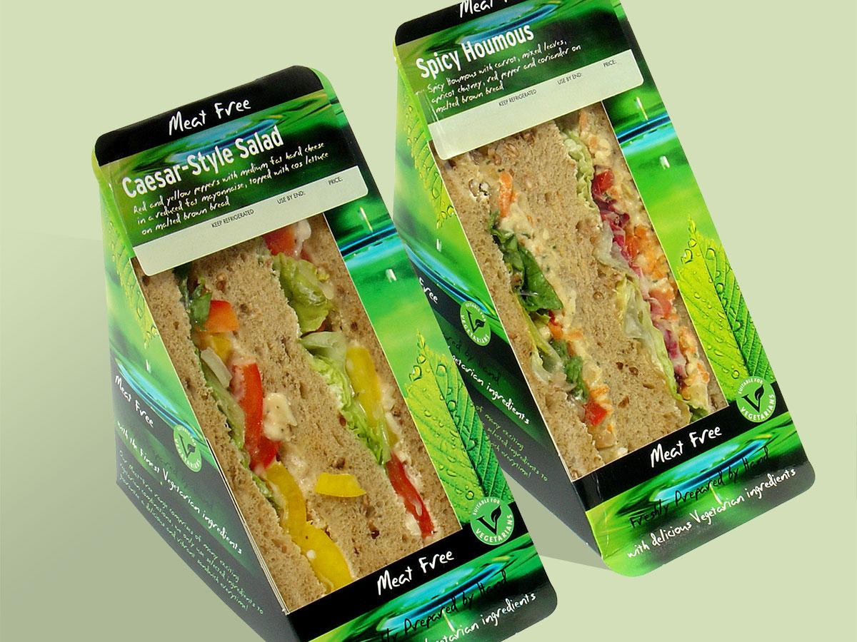 Greencore Meat Free Sandwich Packaging
