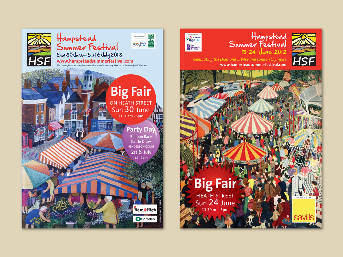 Hampstead Summer Festival Brochure Covers