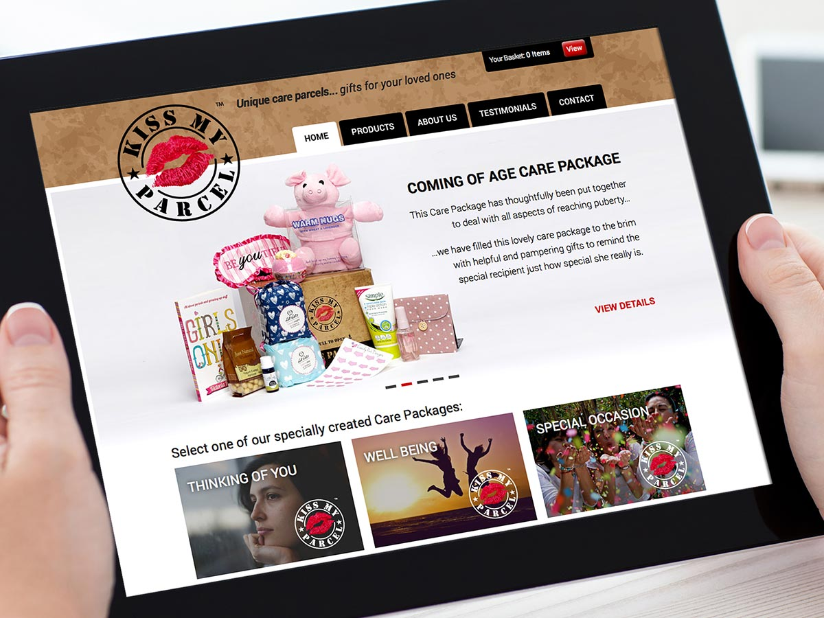 Kiss My Parcel Website Design