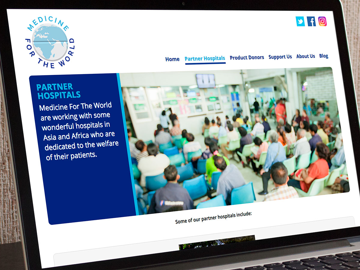 Medicine For The World Website Design