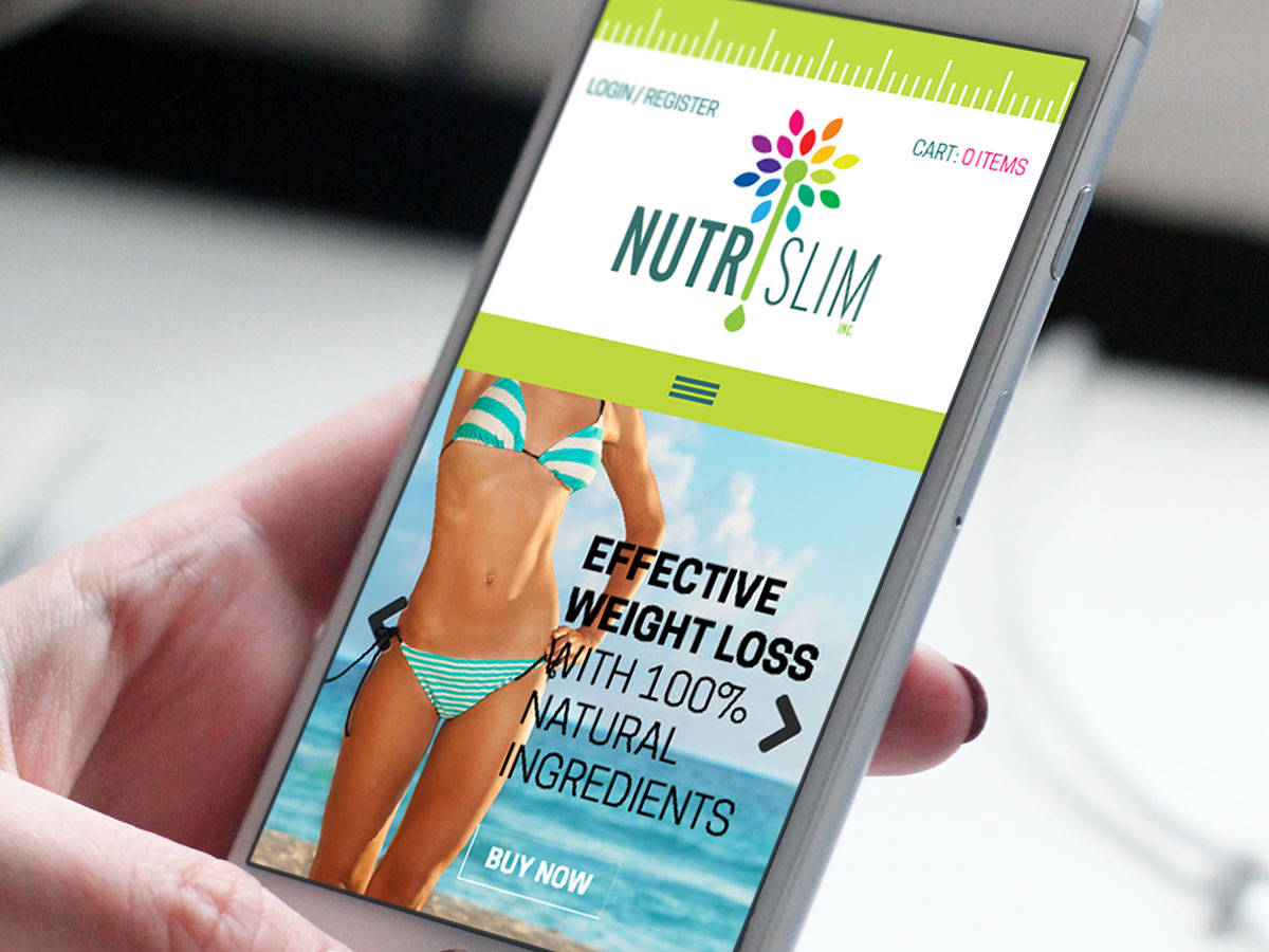 NutriSlim Website Design Mobile