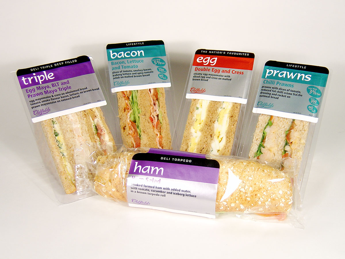 Oldfields Sandwich Packaging Design