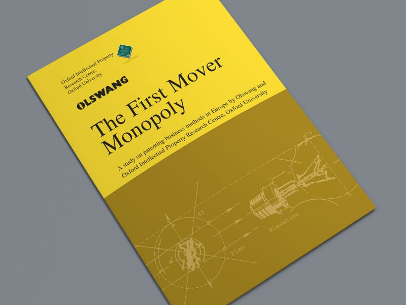 Olswang The First Mover Monopoly Cover