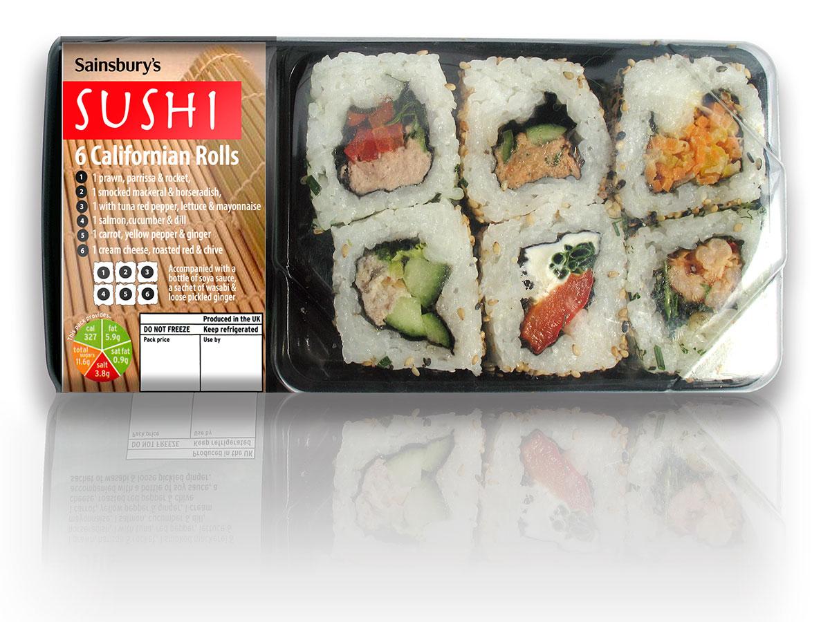 Sainsburys Sushi Packaging Design
