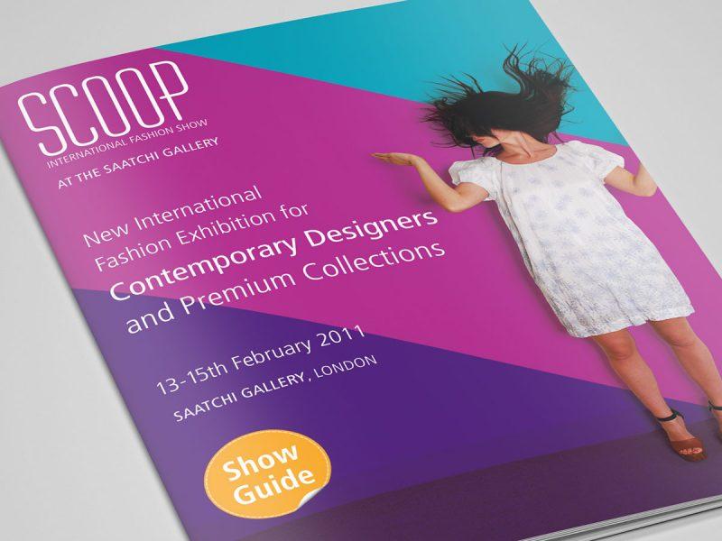 Scoop International Fashion Show Brochure Design