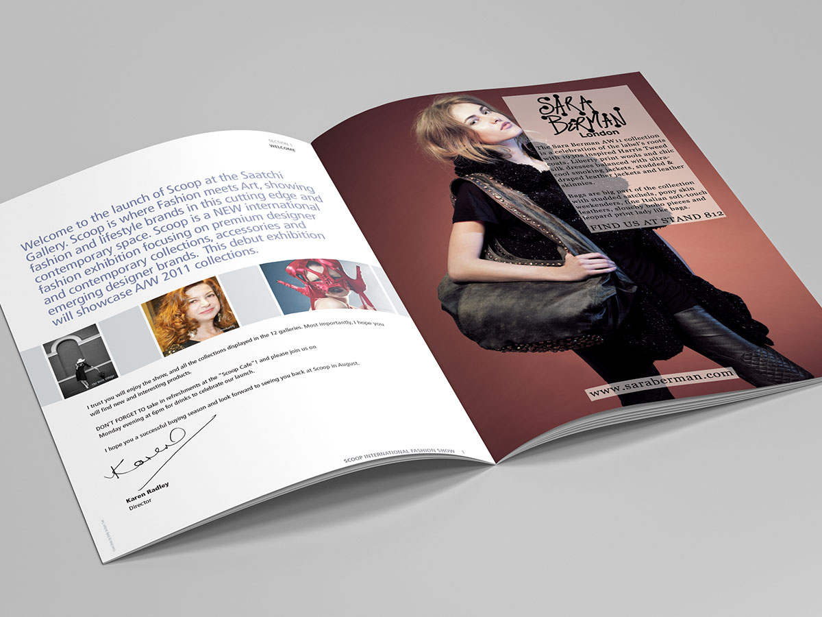 Scoop International Fashion Show Brochure Design