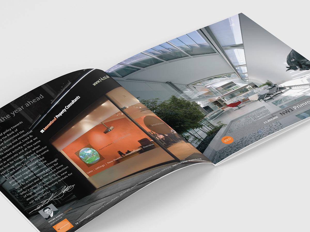 TK International Review Brochure Design
