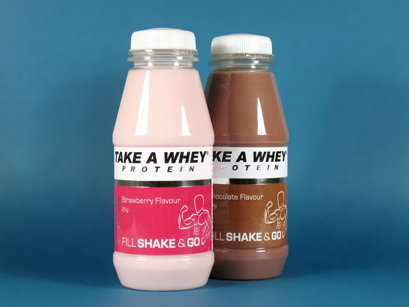Take A Whey Protein Shake Packaging Design