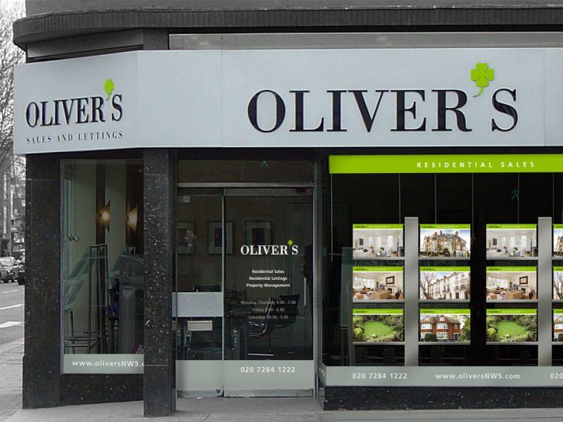 Oliver's Estate Agents Shop Front Design
