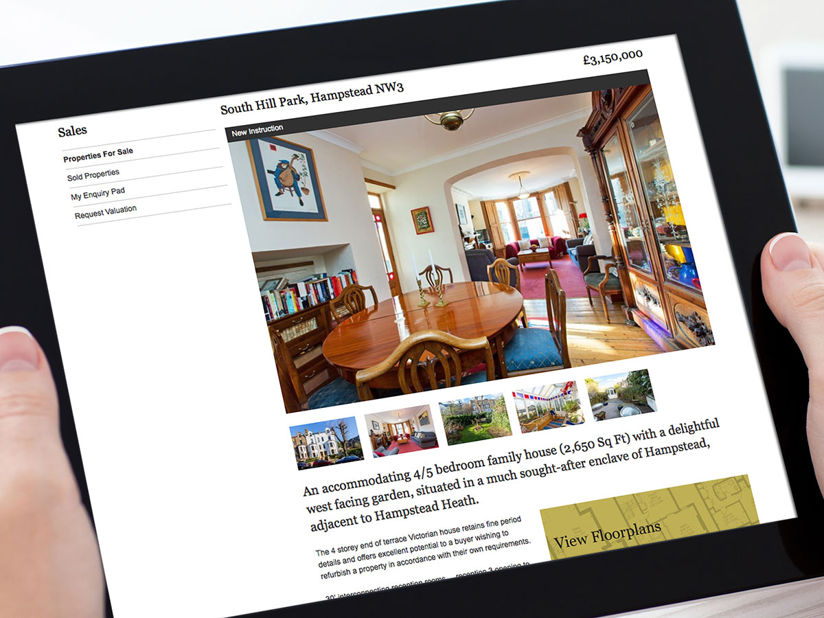 Amberden Estate Agents Website Design