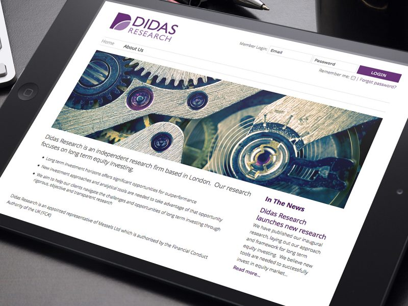 Didas Research Website Design