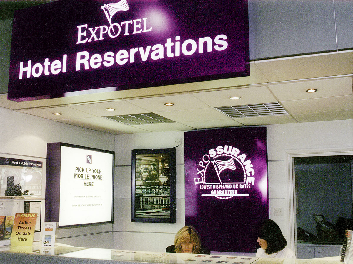 Expotel Hotel Reservations Counter