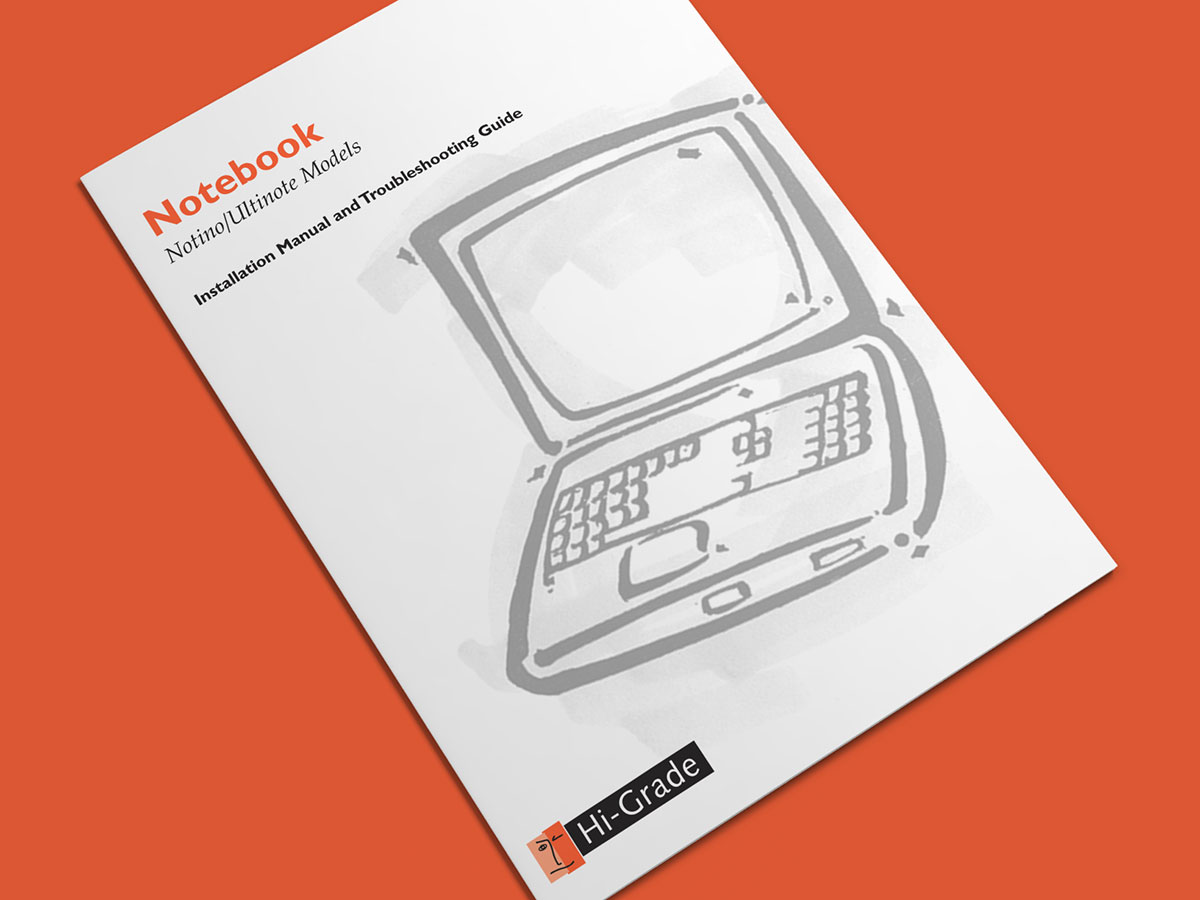 Hi-Grade Computer Manual Laptop