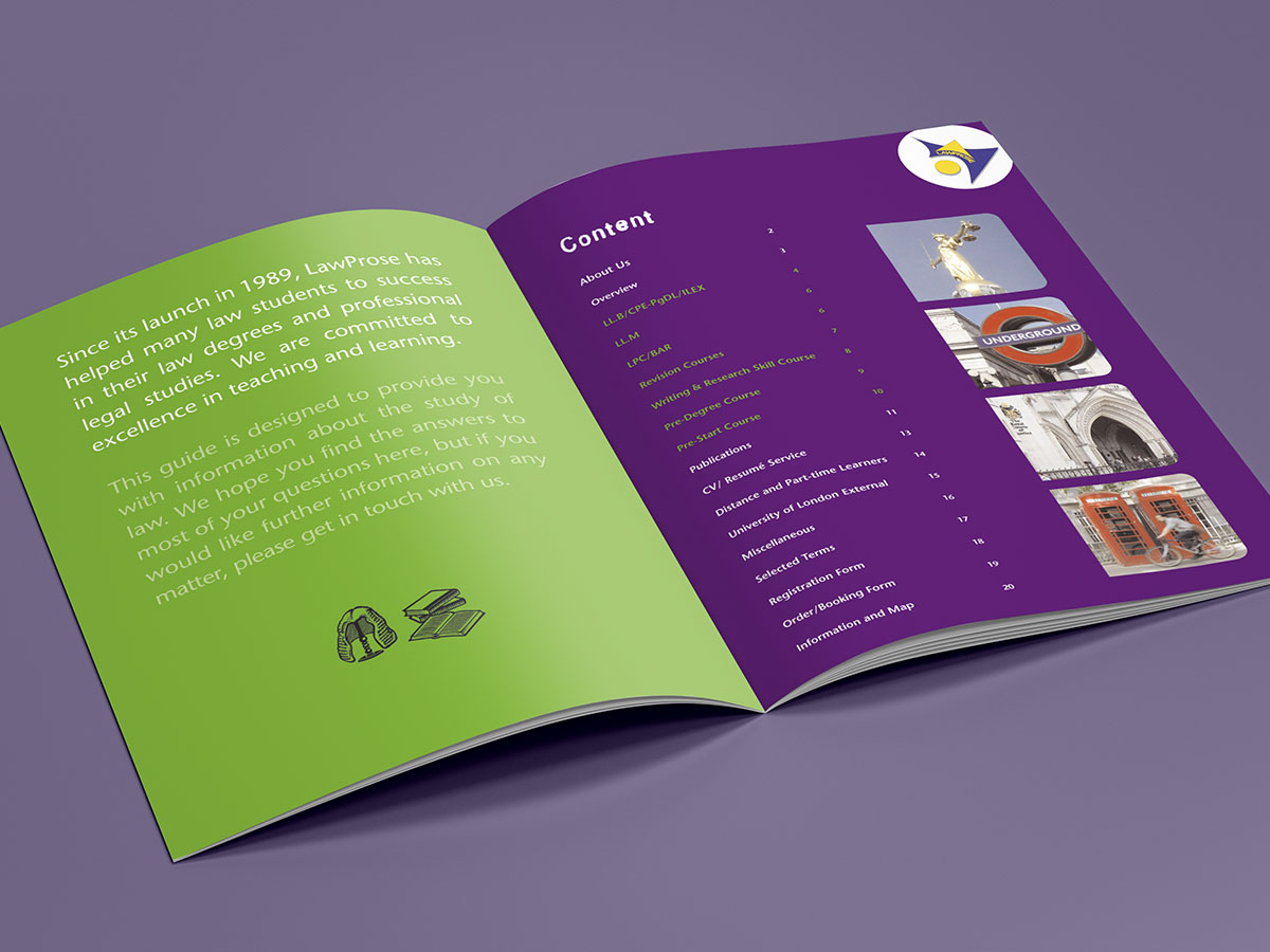 LawProse Academic Brochure Design