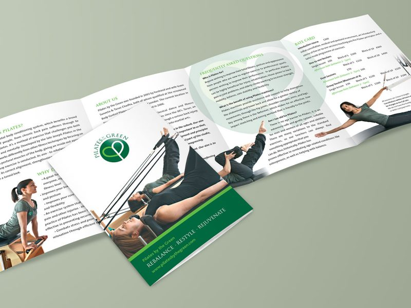 Pilates By The Green Leaflet Design