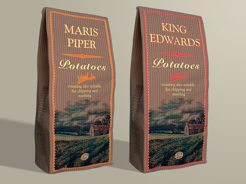 QV Foods Potatoes Packaging Design